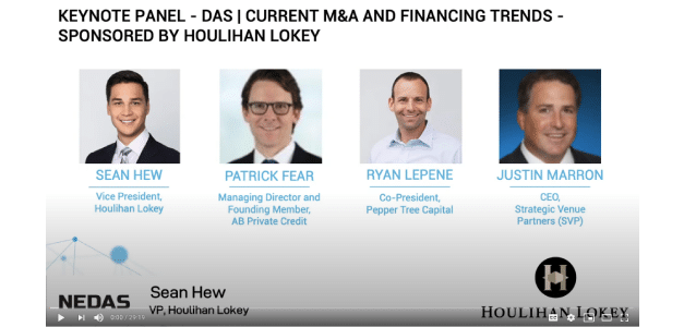 Keynote Panel – DAS/Current M&A and Financing Trends