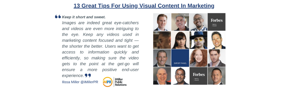 13 Great Tips For Using Visual Content In Marketing