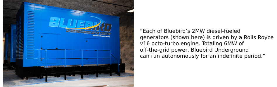 Bluebird Network's Completed Underground Data Center Expansion Offers Enhanced Value