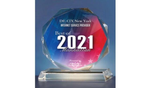 DE-CIX New York Wins Best of Manhattan Award